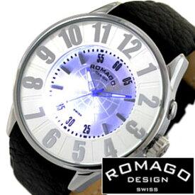 ロマゴ 時計 ROMAGO 時計 ロマゴ 腕時計 ROMAGO 腕時計 ロマゴデザイン ROMAGODESIGN ロマゴ デザイン ROMAGO DESIGN ロマゴデザイン腕時計 ヌメレーション シリーズ NUMERATION SERIES メンズ レディース RM007-0053ST-SV レザーベルト 送料無料