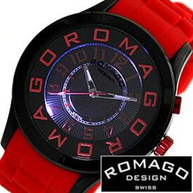 ロマゴ 時計 ROMAGO 時計 ロマゴ 腕時計 ROMAGO 腕時計 ロマゴデザイン ROMAGODESIGN ロマゴ デザイン ROMAGO DESIGN ロマゴ時計 ROMAGO時計 ロマゴ腕時計 アトラクション シリーズ ATTRACTION SERIES メンズ レディース RM015-0162PL-BKRD 送料無料