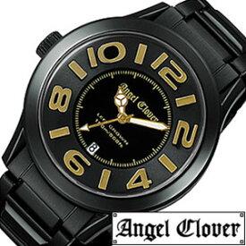 エンジェルクローバー腕時計[AngelClover時計](Angel Clover 腕時計 エンジェル クローバー 時計 )レフト クラウン(Left Crown) メンズ時計 LC44BBG[メタルベルト ブラック ゴールド 黒 金 ギフト バーゲン プレゼント ご褒美][おしゃれ 腕時計]