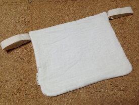 エルゴ、他。ベビービョルンone系にも セーターなどのチクチクから赤ちゃんの肌を守る 抱っこひも用スタイ・ボディガード 生成りダブルガーゼ