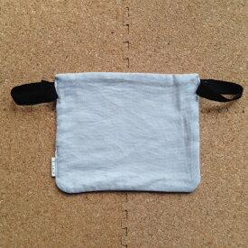 エルゴ、他。ベビービョルンone系にも セーターなどのチクチクから赤ちゃんの肌を守る 抱っこひも用スタイ・ボディガード グレー無地ダブルガーゼ
