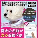 光る首輪LED<NEOPOPLEDBAND>ペット犬用リードハーネス散歩ペット用品