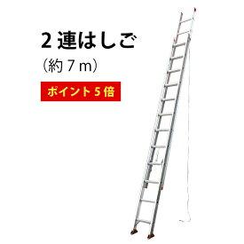 【エントリーでポイント最大6倍】はしご 梯子 7m 】 送料無料 ! 軽量 ! スタンダードタイプの2連はしご(7.31m) 伸縮 2EX-70 2連 アルミ
