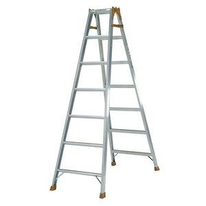 スタンダードタイプのはしご兼用脚立 K-210D 脚立 7段 アルミ 軽量 折りたたみ 送料無料 梯子 7尺