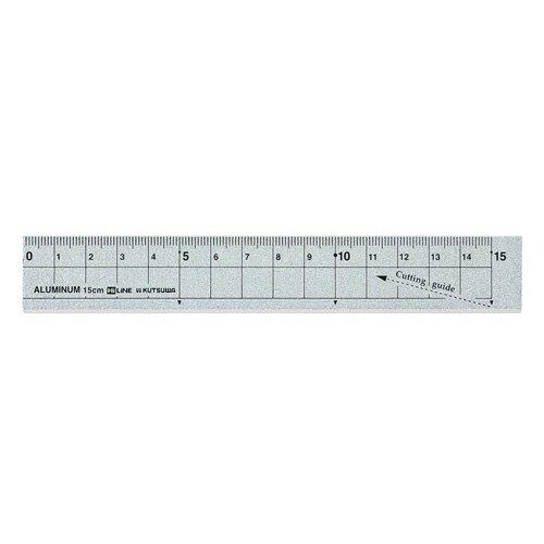 クツワ アルミ定規 15cm シルバー XS15SV 1個