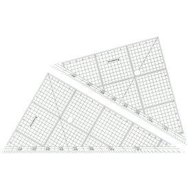 ステッドラー レイアウト用方眼三角定規 24cm 45°・60°ペア 966 24 1組
