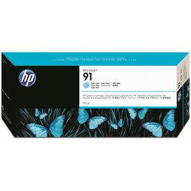 【お取寄せ品】 HP HP91 インクカートリッジ ライトシアン 775ml 顔料系 C9470A 1個 【送料無料】