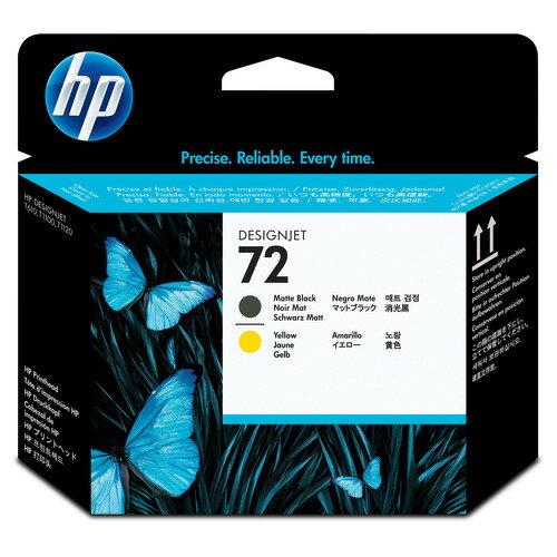 HP HP72 プリントヘッド マットブラック/イエロー C9384A 1個 【送料無料】
