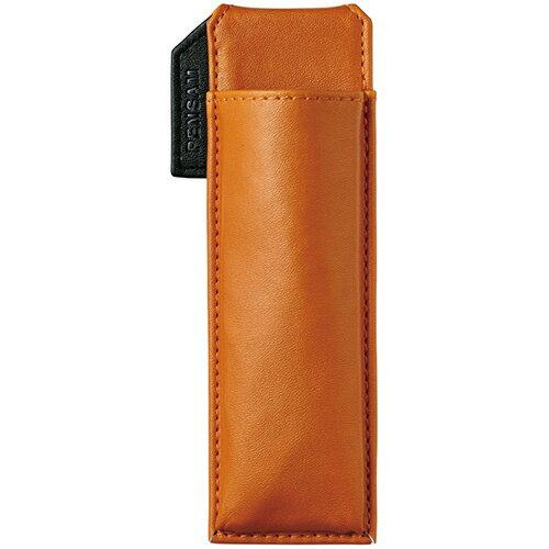 【お取寄せ品】 キングジム はさめるペンケース ペンサム スリムタイプ オレンジ 2001オレ 1個