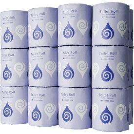 TANOSEE トイレットペーパー 水に流せる芯&包装紙 シングル 65m 1ケース(24ロール)