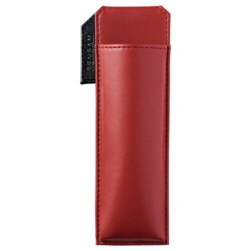 【お取寄せ品】 キングジム はさめるペンケース ペンサム スリムタイプ 赤 2001アカ 1個