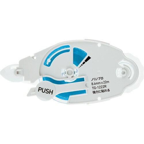 プラス テープのり ノリノプロ 強力に貼れる つめ替えテープ 8.4mm×22m TG−1222R 1個