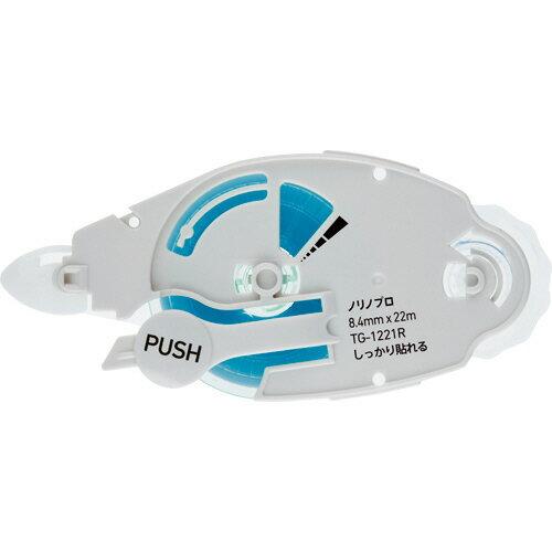 プラス テープのり ノリノプロ しっかり貼れる つめ替えテープ 8.4mm×22m TG−1221R 1個