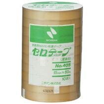 ニチバン 産業用セロテープ 大巻 15mm×50m 405−15x50 1パック(10巻)