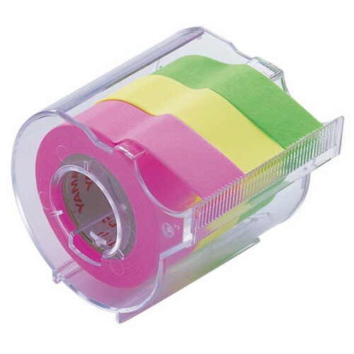 ヤマト メモック ロールテープ カッター付 15mm幅 ライム&レモン&ローズ RK−15CH−B 1個