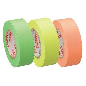 ヤマト メモック ロールテープ 蛍光紙 つめかえ用 15mm幅 オレンジ&レモン&ライム RK−15H−A 1パック(3巻)