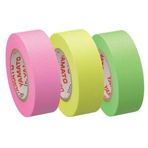 ヤマト メモック ロールテープ 蛍光紙 つめかえ用 15mm幅 ライム&レモン&ローズ RK−15H−B 1パック(3巻)
