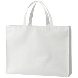 TANOSEE 不織布バッグ 大 ヨコ530×タテ400×マチ幅120mm ホワイト 1パック(10枚)