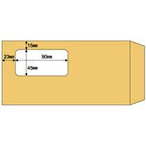 【お取寄せ品】 ヒサゴ 窓つき封筒 A4三ツ折用 クラフト紙 MF17 1箱(100枚)