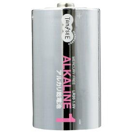 TANOSEE アルカリ乾電池 単1形 1パック(2本)