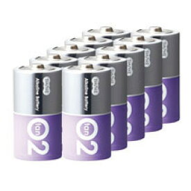 TANOSEE アルカリ乾電池 プレミアム 単2形 1箱(10本)