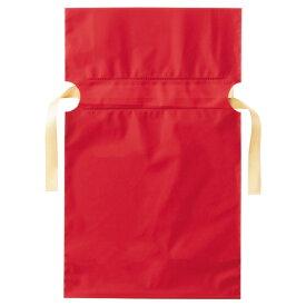 店研創意 ストア・エキスプレス 梨地リボン付ギフトバッグ レッド 17cm 1パック(20枚)
