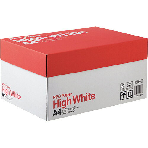 PPC PAPER High White A4 1箱(5000枚:500枚×10冊) 【送料無料】