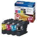 ブラザー インクカートリッジ お徳用 4色 LC110−4PK 1箱(4個:各色1個) 【送料無料】