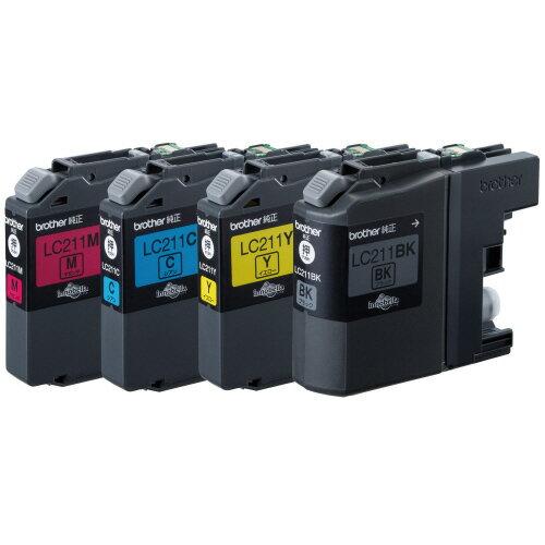 ブラザー インクカートリッジ お徳用 4色 LC211−4PK 1箱(4個:各色1個) 【送料無料】