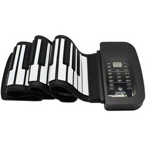 ナカガミ smaly ロールアップピアノ 61鍵盤 ブラック SMALY−PIANO−61 1台 【送料無料】