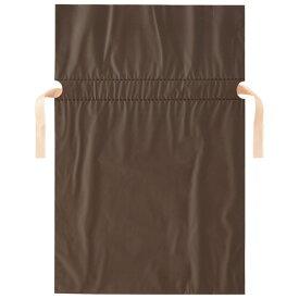 店研創意 ストア・エキスプレス 梨地リボン付ギフトバッグ ブラウン 24cm 1パック(20枚)
