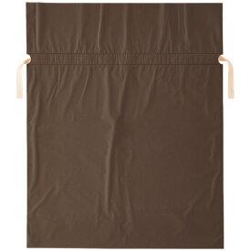店研創意 ストア・エキスプレス 梨地リボン付ギフトバッグ ブラウン 45cm 1パック(20枚)