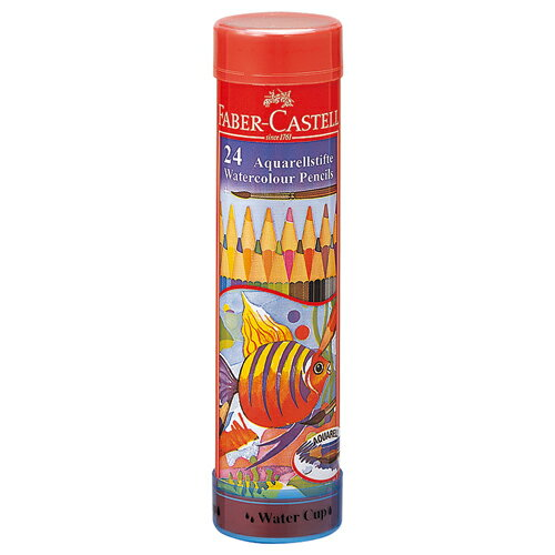 【お取寄せ品】 ファーバーカステル 水彩色鉛筆 丸缶 24色 TFC−115924 1セット