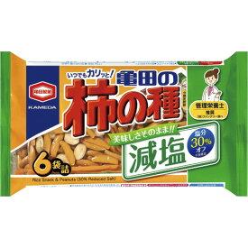 亀田製菓 減塩 亀田の柿の種 182g 1パック(6袋)