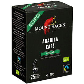 マウントハーゲン オーガニック フェアトレード カフェインレス インスタントコーヒー スティック 2g 1箱(25本)