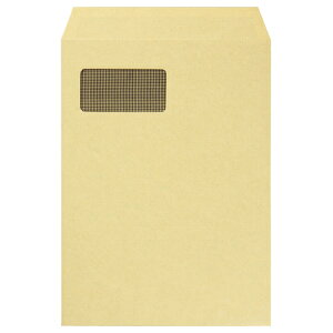 TANOSEE 窓付封筒 裏地紋付 A4 テープのりなし 85g/m2 クラフト(窓:フィルム) 1パック(100枚)