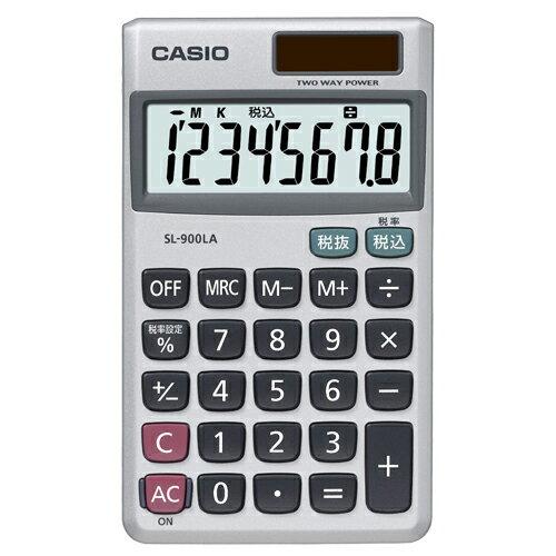 カシオ 電卓 8桁 手帳サイズ SL−900LA−N 1台