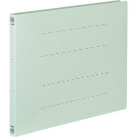 プラス フラットファイル 樹脂とじ具 A4ヨコ 150枚収容 背幅18mm ブルー No.022N 1セット(10冊)
