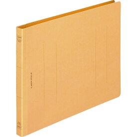 ライオン事務器 フラットファイル(環境) 樹脂押え具 B5ヨコ 150枚収容 背幅18mm 黄 A−527KB5E 1セット(10冊)