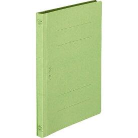 ライオン事務器 フラットファイル(環境) 樹脂押え具 B5タテ 150枚収容 背幅18mm 緑 A−529KB5S 1セット(10冊)