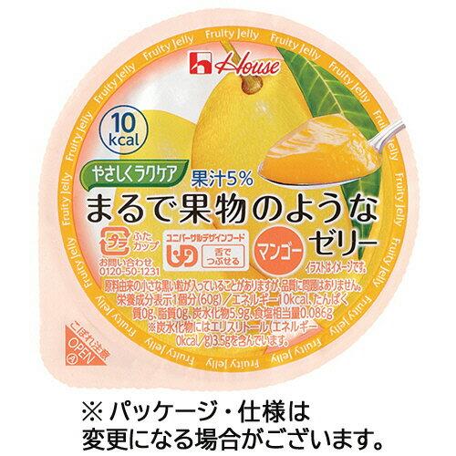 【お取寄せ品】 ハウス食品 やさしくラクケア まるで果物のようなゼリー マンゴー 60g 1セット(48個) 【送料無料】