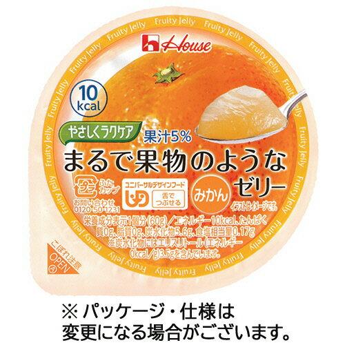 【お取寄せ品】 ハウス食品 やさしくラクケア まるで果物のようなゼリー みかん 60g 1セット(48個) 【送料無料】