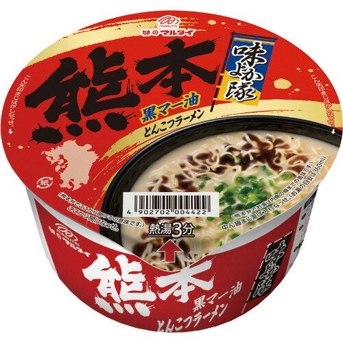 マルタイ 九州発 黒マー油とんこつ熊本ラーメン 76g 1ケース(12食)