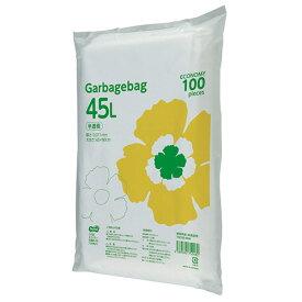 TANOSEE ゴミ袋エコノミー 半透明 45L 1セット(1000枚:100枚×10パック) 【送料無料】