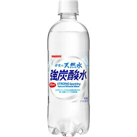 サンガリア 伊賀の天然水 強炭酸水 500ml ペットボトル 1セット(72本:24本×3ケース) 【送料無料】