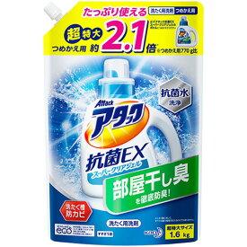 花王 アタック抗菌EX スーパークリアジェル つめかえ用 超特大 1.6kg 1セット(6個) 【送料無料】
