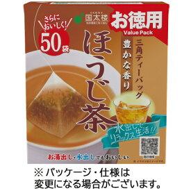 国太楼 お徳用 三角ティーバッグ ほうじ茶 1セット(300バッグ:50バッグ×6箱)