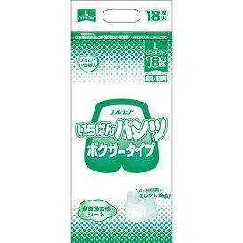 カミ商事 エルモア いちばん パンツ ボクサータイプ L 1セット(72枚:18枚×4パック) 【送料無料】