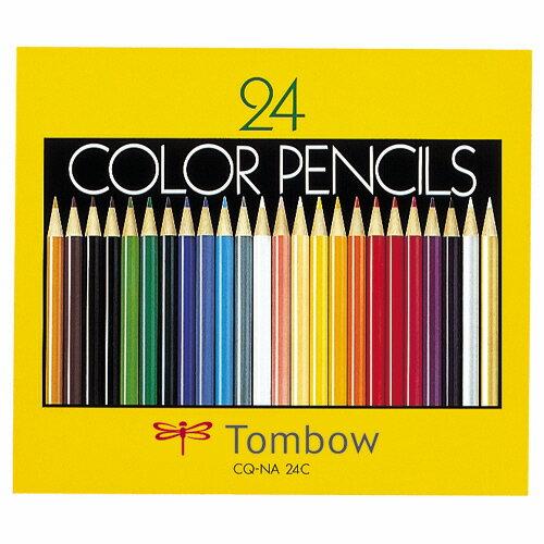 トンボ鉛筆 色鉛筆 紙箱 24色(各色1本) CQ−NA24C 1箱