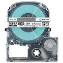 キングジム テプラ PRO テープカートリッジ マットラベル 12mm 透明/黒文字 SB12T 1個